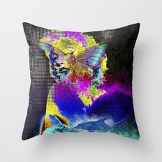Marilin butterfly dolphin  Throw Pillow