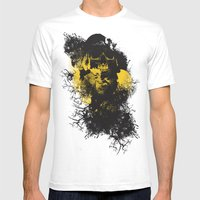 Abstract Thinking Mens Fitted Tee White SMALL