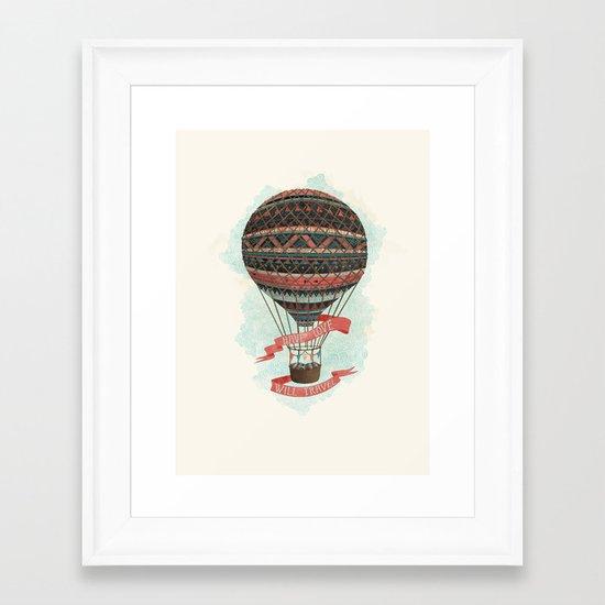 have love, will travel Framed Art Print