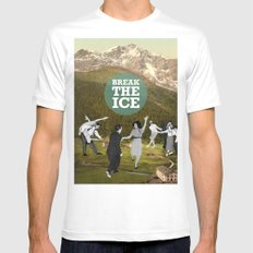 Break The Ice White SMALL Mens Fitted Tee