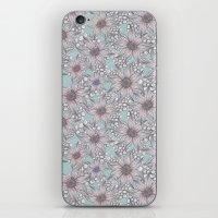 Pastel Sketched Floral iPhone & iPod Skin