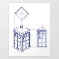 Tardis - Light Art Print