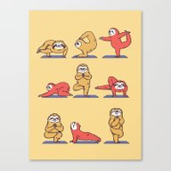 Sloth Yoga Canvas Print