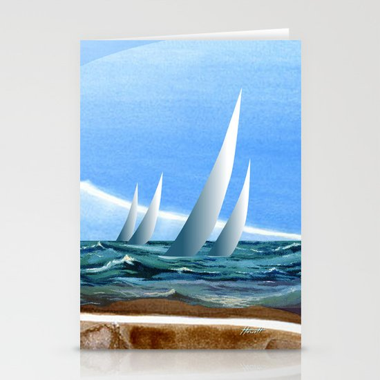 The Geology of Boating Stationery Card