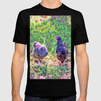 Hens In A Field Mens Fitted Tee Black SMALL