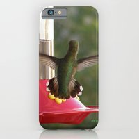 iPhone Cases featuring This Feeder is MINE! by Ralph S. Carlson