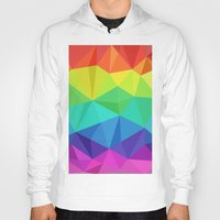 Rainbow Low Poly Hoody