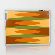 Retro Pattern Orange Gre… Laptop & iPad Skin
