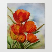 The Paradise of tulips Canvas Print