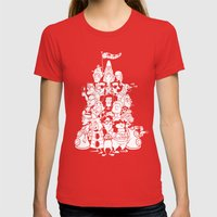 Day At The Mansion Womens Fitted Tee Red SMALL
