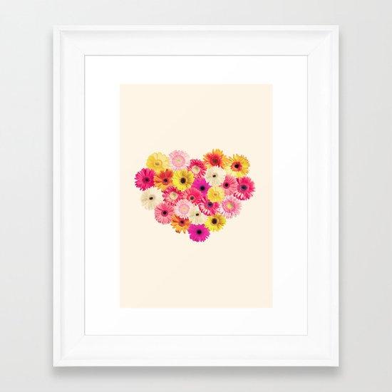 Heart of Flowers  Framed Art Print