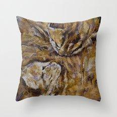 Sleeping Kittens Throw Pillow