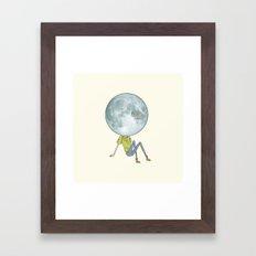 moonface Framed Art Print