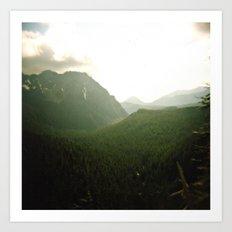 rainier view . holga Art Print