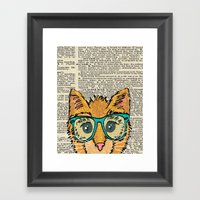 Orange Kitty Cat Framed Art Print