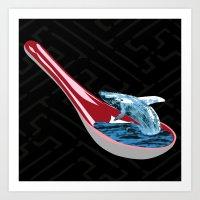 Spoon Watching Art Print