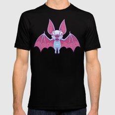Albino Vampire Bat Black Mens Fitted Tee SMALL