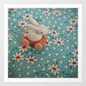 Bunny Blues Art Print