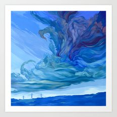 Clouds 5 Art Print