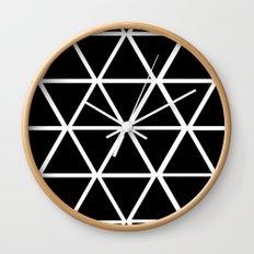 BLACK & WHITE TRIANGLES 2 Wall Clock
