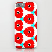 iPhone & iPod Case featuring Herweije Retro Flower Pattern by Stoflab