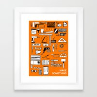 Make Something Framed Art Print