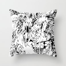 Flowing Obsessions Throw Pillow