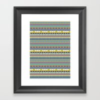 Berlin Pattern Framed Art Print