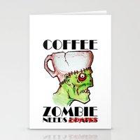 Coffee Zombie Stationery Cards
