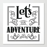 Let's Go On An Adventure Canvas Print