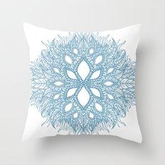 blue plant Throw Pillow