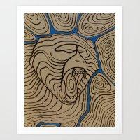 angry baboon Art Print
