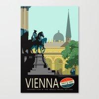Visit Vienna Canvas Print
