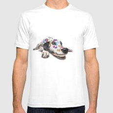 Spotted dog#3 Mens Fitted Tee SMALL White