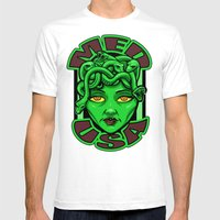 Madusa Mens Fitted Tee White SMALL