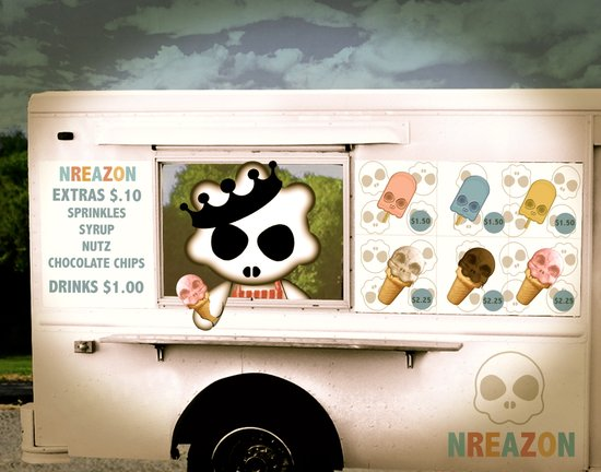 Ice Cream Delivery by NREAZON Art Print