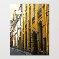 Paris Lane Canvas Print