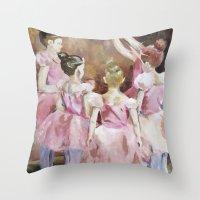 Before the Dance - Ballet Series Throw Pillow
