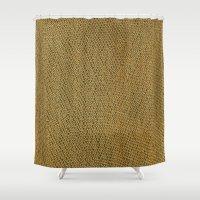 Green wicker background Shower Curtain