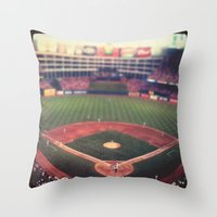 At The Ballpark   Throw Pillow