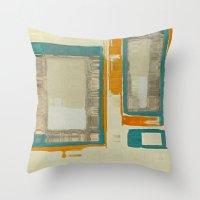 Mid Century Modern Abstract Throw Pillow