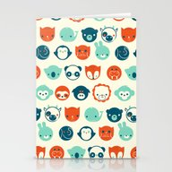 Stationery Cards featuring Menagerie by Jay Fleck
