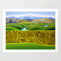 The Lie of the Land: Tararua Art Print