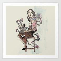 Zebra Girl Art Print