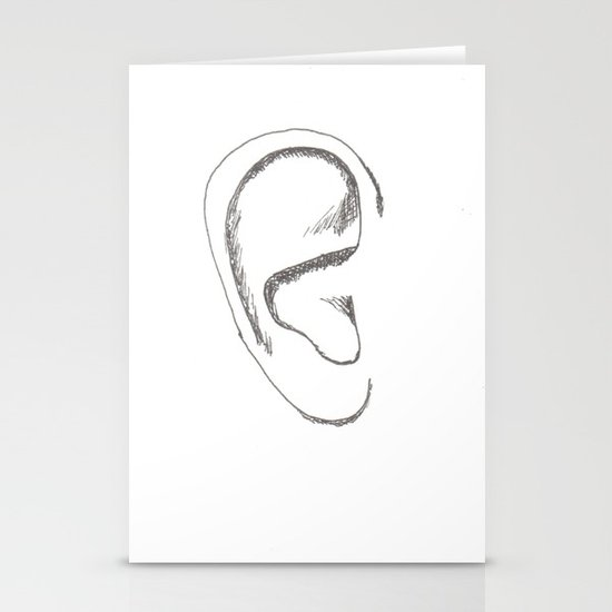 an earful Right Stationery Card