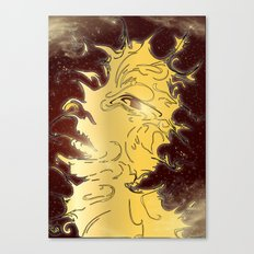 girl in the galaxy Canvas Print