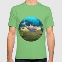 Dolphin Mens Fitted Tee Grass SMALL