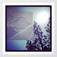 Clouds. Art Print