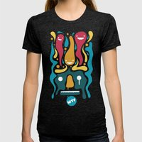 WTF Womens Fitted Tee Tri-Black SMALL