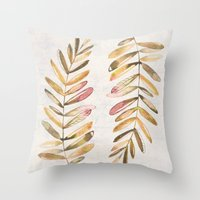 The feeling of fall Throw Pillow